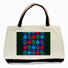 Minecraft Ugly Holiday Christmas Green Background Basic Tote Bag (Two Sides)