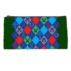 Minecraft Ugly Holiday Christmas Green Background Pencil Cases