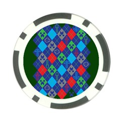 Minecraft Ugly Holiday Christmas Green Background Poker Chip Card Guards (10 pack)