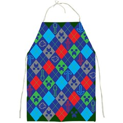 Minecraft Ugly Holiday Christmas Green Background Full Print Aprons