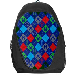 Minecraft Ugly Holiday Christmas Green Background Backpack Bag