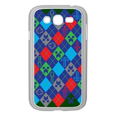 Minecraft Ugly Holiday Christmas Green Background Samsung Galaxy Grand DUOS I9082 Case (White)