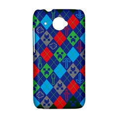 Minecraft Ugly Holiday Christmas Green Background HTC Desire 601 Hardshell Case