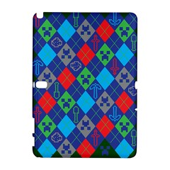 Minecraft Ugly Holiday Christmas Green Background Samsung Galaxy Note 10.1 (P600) Hardshell Case