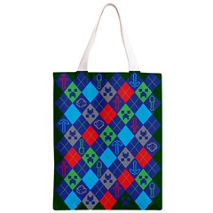 Minecraft Ugly Holiday Christmas Green Background Classic Light Tote Bag