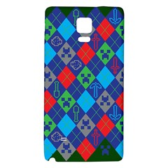 Minecraft Ugly Holiday Christmas Green Background Galaxy Note 4 Back Case
