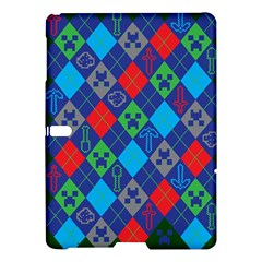 Minecraft Ugly Holiday Christmas Green Background Samsung Galaxy Tab S (10.5 ) Hardshell Case
