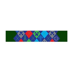 Minecraft Ugly Holiday Christmas Green Background Flano Scarf (Mini)