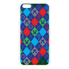 Minecraft Ugly Holiday Christmas Green Background Apple Seamless iPhone 6 Plus/6S Plus Case (Transparent)