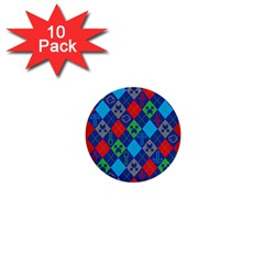 Minecraft Ugly Holiday Christmas Red Background 1  Mini Buttons (10 pack)