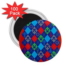 Minecraft Ugly Holiday Christmas Red Background 2.25  Magnets (100 pack)