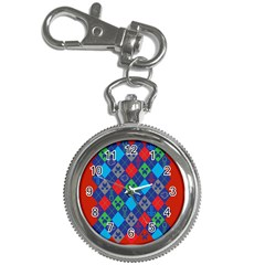 Minecraft Ugly Holiday Christmas Red Background Key Chain Watches