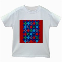 Minecraft Ugly Holiday Christmas Red Background Kids White T-Shirts