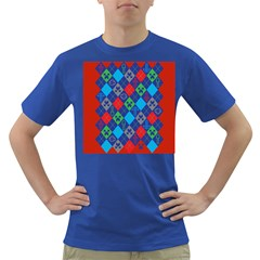Minecraft Ugly Holiday Christmas Red Background Dark T-Shirt