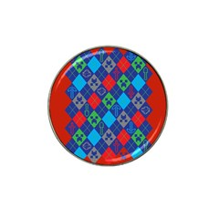 Minecraft Ugly Holiday Christmas Red Background Hat Clip Ball Marker (4 pack)