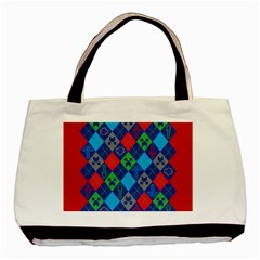 Minecraft Ugly Holiday Christmas Red Background Basic Tote Bag (two Sides)