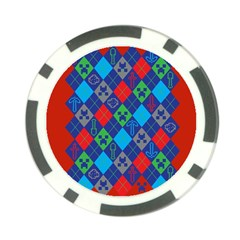 Minecraft Ugly Holiday Christmas Red Background Poker Chip Card Guards