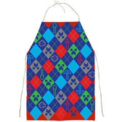 Minecraft Ugly Holiday Christmas Red Background Full Print Aprons