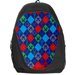 Minecraft Ugly Holiday Christmas Red Background Backpack Bag