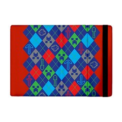 Minecraft Ugly Holiday Christmas Red Background Apple iPad Mini Flip Case