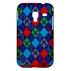 Minecraft Ugly Holiday Christmas Red Background Samsung Galaxy Ace Plus S7500 Hardshell Case