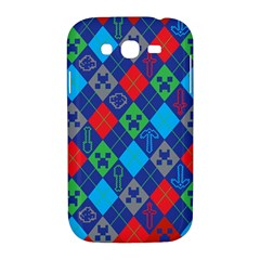 Minecraft Ugly Holiday Christmas Red Background Samsung Galaxy Grand DUOS I9082 Hardshell Case