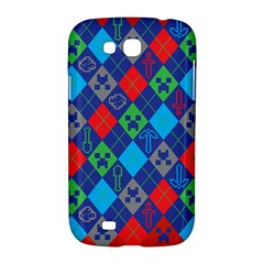 Minecraft Ugly Holiday Christmas Red Background Samsung Galaxy Grand GT-I9128 Hardshell Case