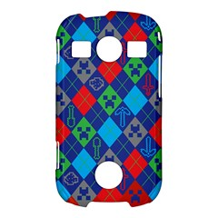 Minecraft Ugly Holiday Christmas Red Background Samsung Galaxy S7710 Xcover 2 Hardshell Case
