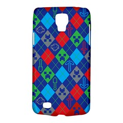 Minecraft Ugly Holiday Christmas Red Background Galaxy S4 Active