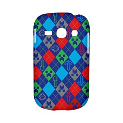 Minecraft Ugly Holiday Christmas Red Background Samsung Galaxy S6810 Hardshell Case