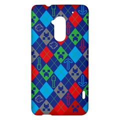 Minecraft Ugly Holiday Christmas Red Background HTC One Max (T6) Hardshell Case