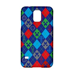 Minecraft Ugly Holiday Christmas Red Background Samsung Galaxy S5 Hardshell Case