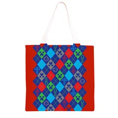 Minecraft Ugly Holiday Christmas Red Background Grocery Light Tote Bag