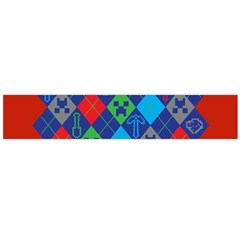 Minecraft Ugly Holiday Christmas Red Background Flano Scarf (Large)