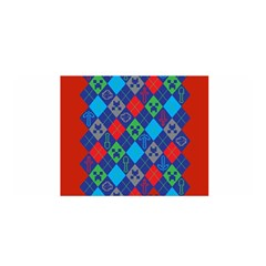 Minecraft Ugly Holiday Christmas Red Background Satin Wrap