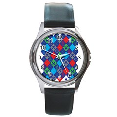 Minecraft Ugly Holiday Christmas Round Metal Watch