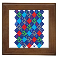 Minecraft Ugly Holiday Christmas Framed Tiles