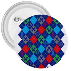 Minecraft Ugly Holiday Christmas 3  Buttons