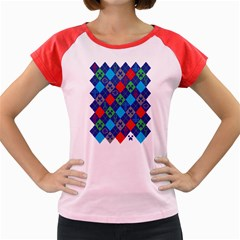 Minecraft Ugly Holiday Christmas Women s Cap Sleeve T Shirt
