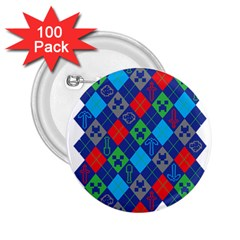 Minecraft Ugly Holiday Christmas 2.25  Buttons (100 pack)