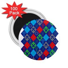 Minecraft Ugly Holiday Christmas 2.25  Magnets (100 pack)
