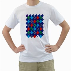 Minecraft Ugly Holiday Christmas Men s T-Shirt (White) (Two Sided)