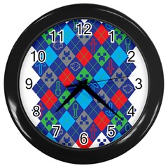 Minecraft Ugly Holiday Christmas Wall Clocks (Black)