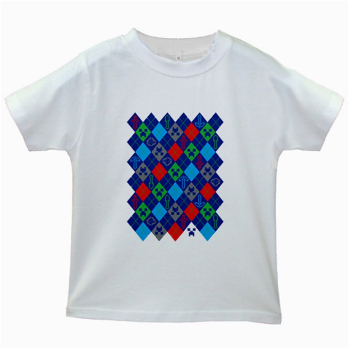 Minecraft Ugly Holiday Christmas Kids White T-Shirts