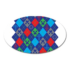 Minecraft Ugly Holiday Christmas Oval Magnet