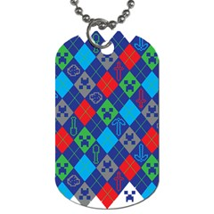 Minecraft Ugly Holiday Christmas Dog Tag (Two Sides)