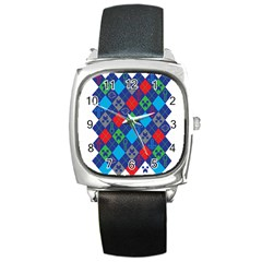 Minecraft Ugly Holiday Christmas Square Metal Watch