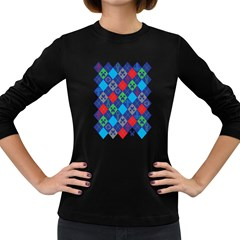 Minecraft Ugly Holiday Christmas Women s Long Sleeve Dark T-Shirts