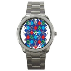 Minecraft Ugly Holiday Christmas Sport Metal Watch