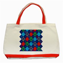 Minecraft Ugly Holiday Christmas Classic Tote Bag (Red)